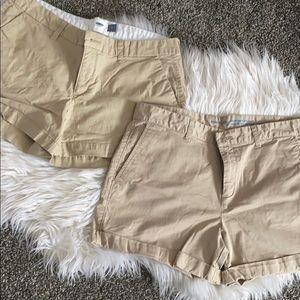 Gap & Old Navy Khaki chino shorts